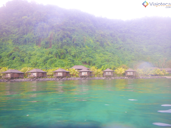 Aga Reef resort em Samoa