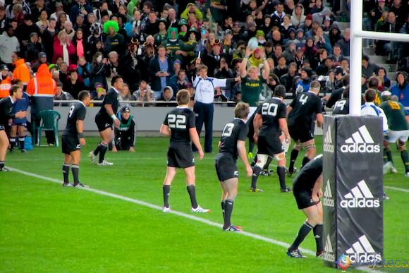 All Blacks x Springbooks em Auckland