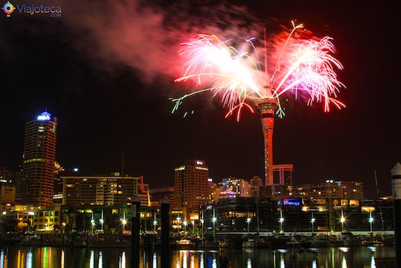 Ano Novo em Auckland na Nova Zelândia