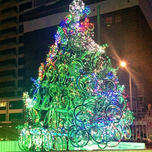 Arvore de Natal de Bicicletas em Auckland