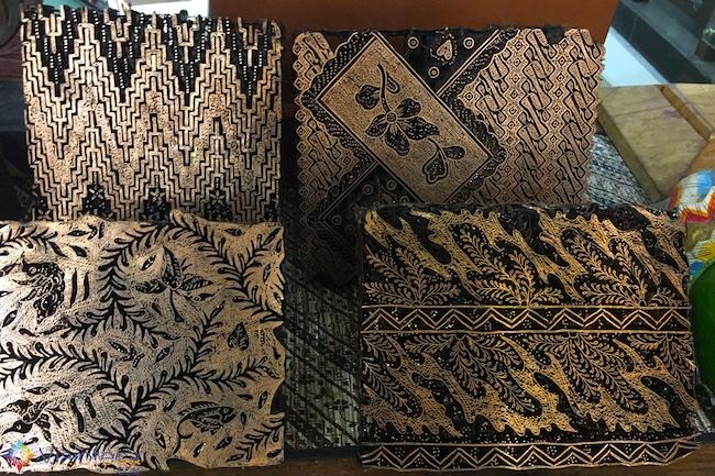 Carimbo de Batik na Indonésia