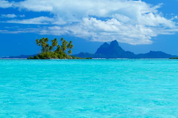 Bora Bora vista de Tahaa