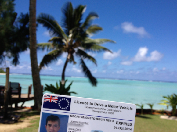 Carteira Motorista Cook Islands