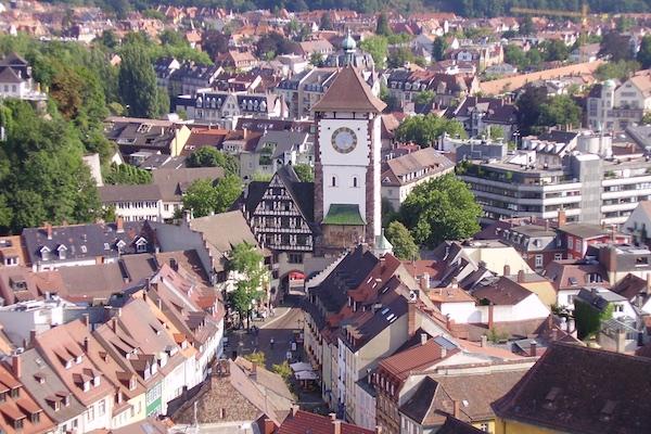 Schwabentor visto da Catedral de Freiburg