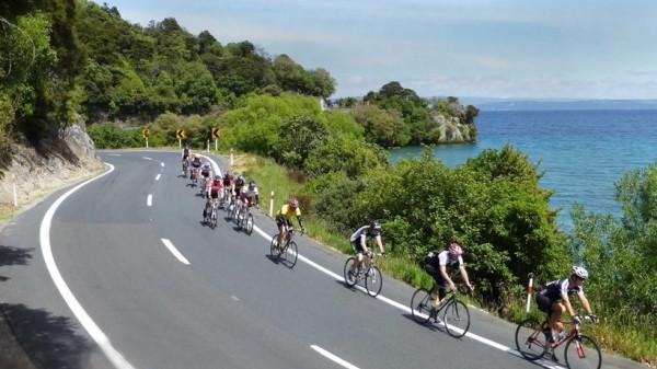Ciclistas na Estrada na NZ