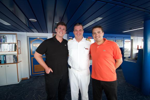 Comandante do Paul Guaguin no Cruzeiro na Polinésia
