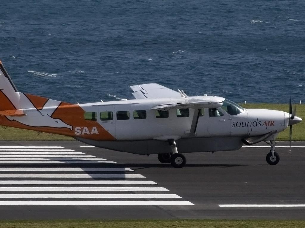 Como é voar na Nova Zelândia SoundsAir