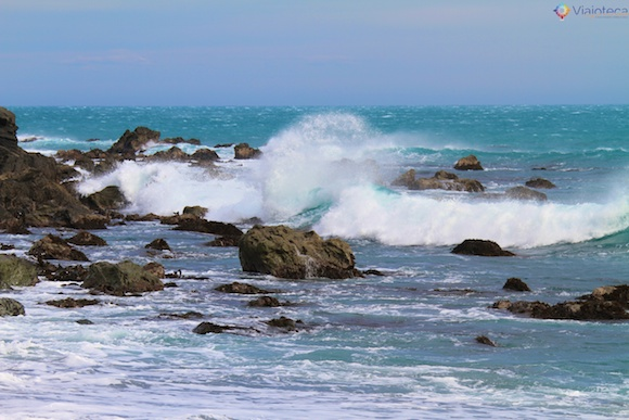 Cook Strait na Wairarapa Coast nos arredores de Wellington