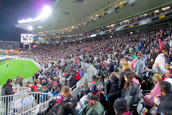 Eden Park quase lotado para Africa do Sul x Auckland