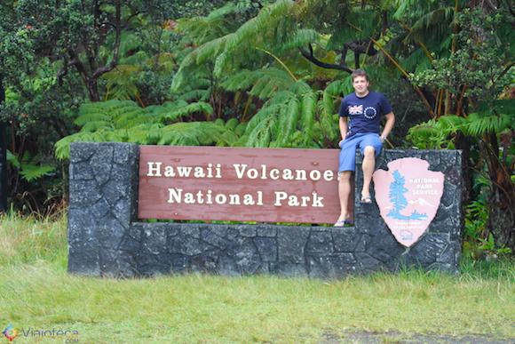 Entrada do Hawaii Volcanoes National Park
