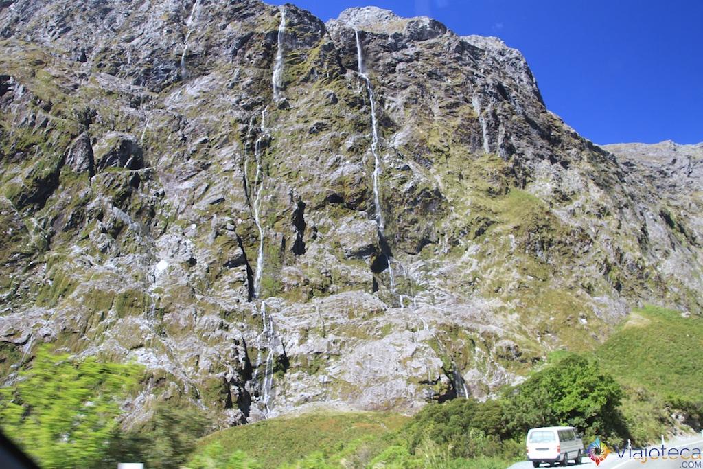 Estrada para o Milford Sound na Nova Zelândia 133