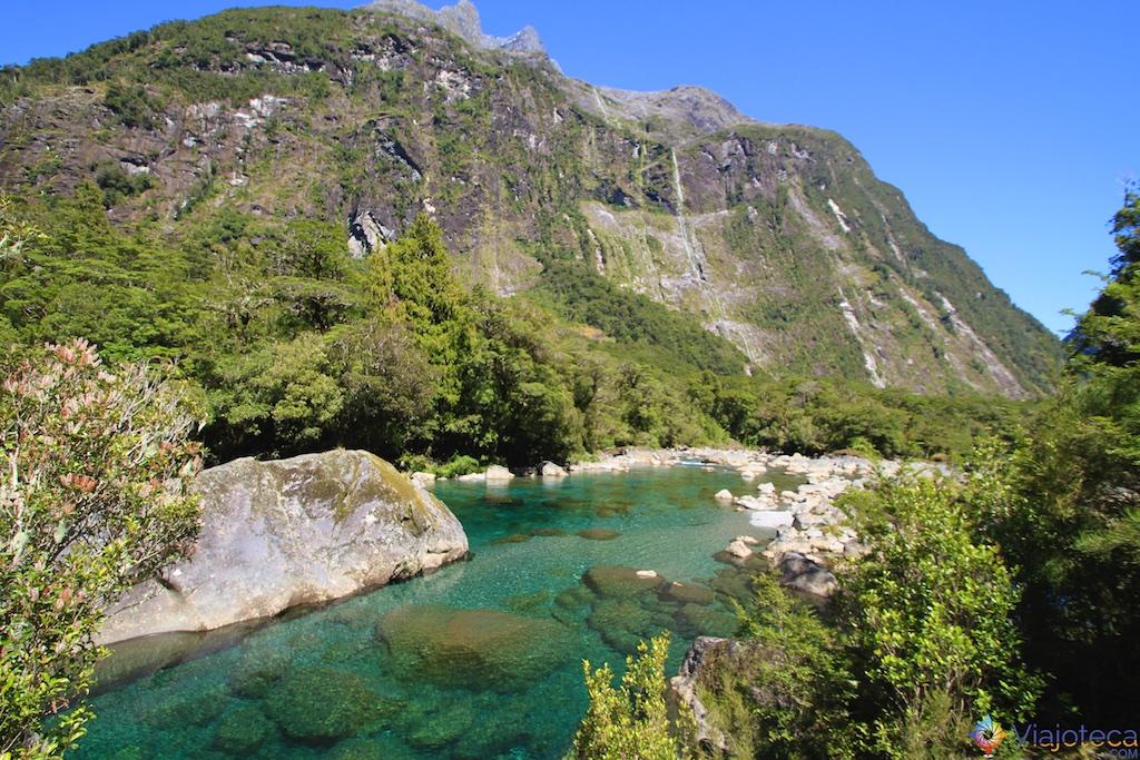 Estrada para o Milford Sound na Nova Zelândia 90