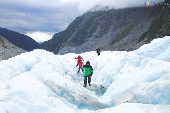 Explorando o Fox Glacier na Nova Zelândia