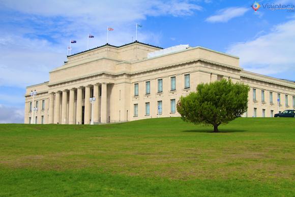 Fachada do Museu de Auckland na Nova Zelândia