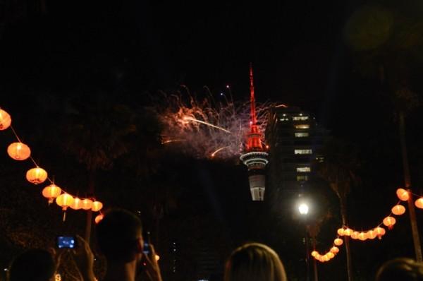 Fogos em Auckland