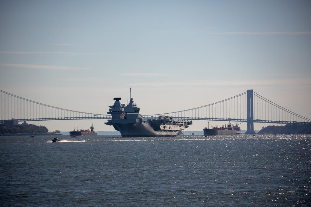 HMS Queen Elizabeth em Nova York