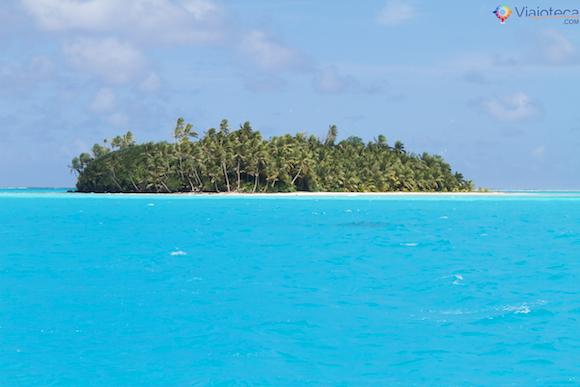 Honeymoon Island em Aitutuaki nas Ilhas Cook