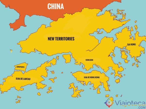 Mapa de Hong Kong