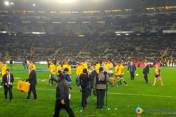Hora do Intervalo no Jogo do All Blacks x Wallabies na Nova Zelândia