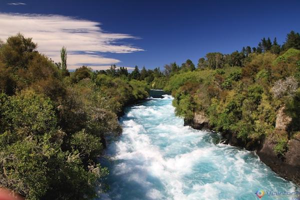 Huka Falls - Cachoeira Nova Zelândia 43
