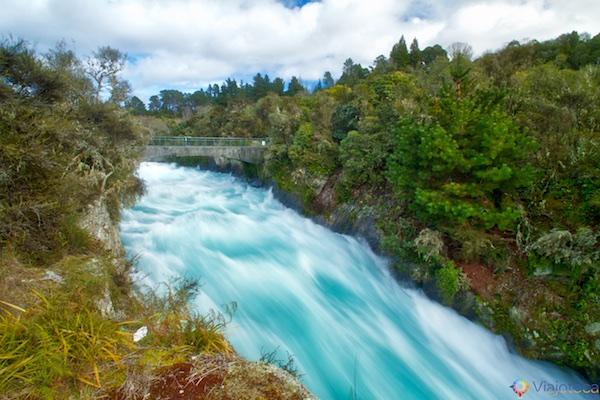 Huka Falls - Cachoeira Nova Zelândia 7