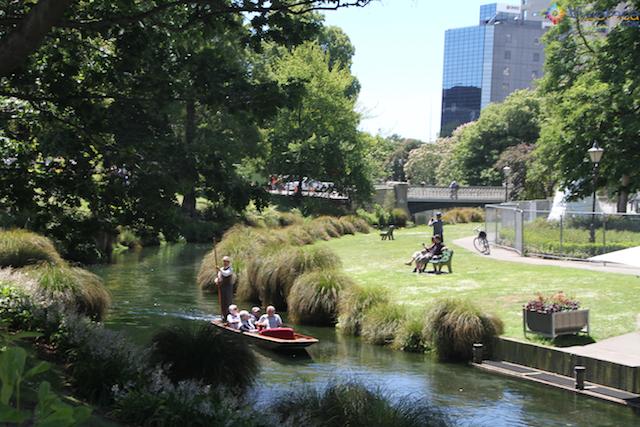 Jardim Botânico de Christchurch na Nova Zelândia