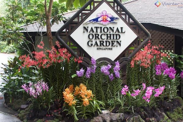 Entrada Jardim Nacional das Orquídeas de Singapura