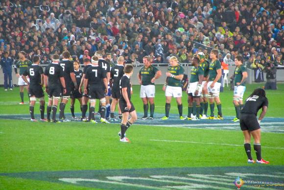 Jogo do All Blacks na Nova Zelândia
