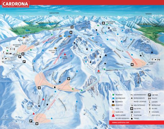 Mapa Cardrona