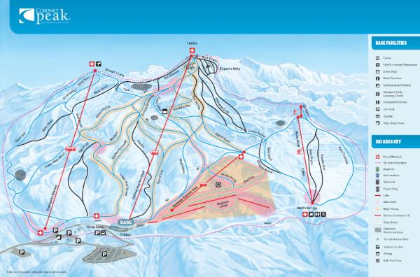 Mapa Coronet Peak