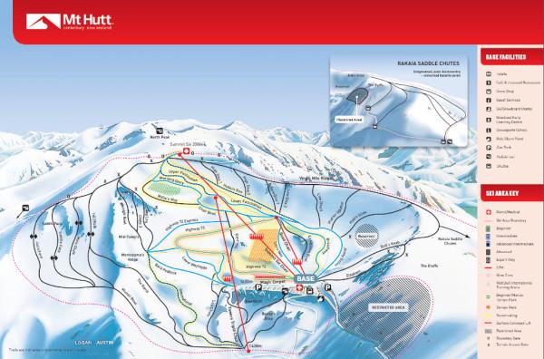 Mapa Mt. Hutt