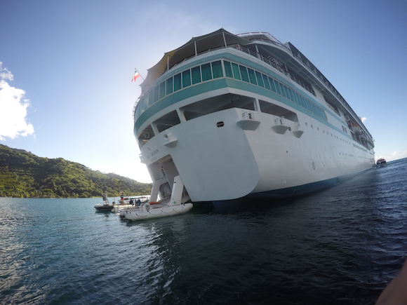 Marina no Cruzeiro na Polinésia com a Paul Gauguin Cruises