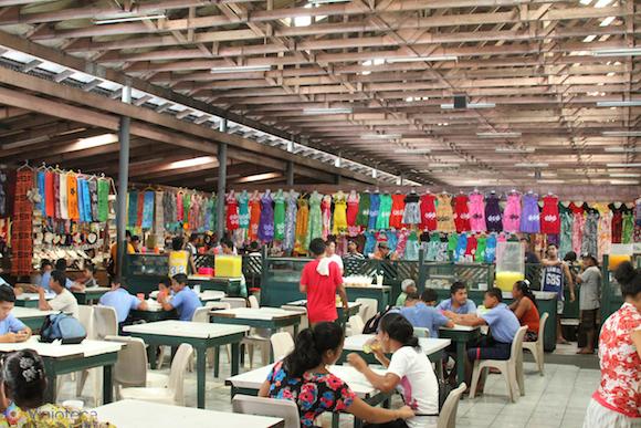 Mercado em Apia em Samoa
