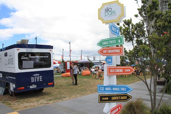 Natal em Auckland Silo Park