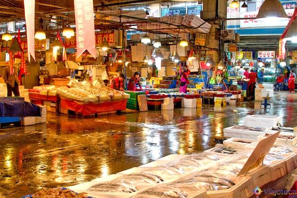 Noryangjin Fish Market em Seul