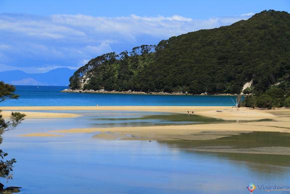 Paisagens do Abel Tasman National Park na Nova Zelândia