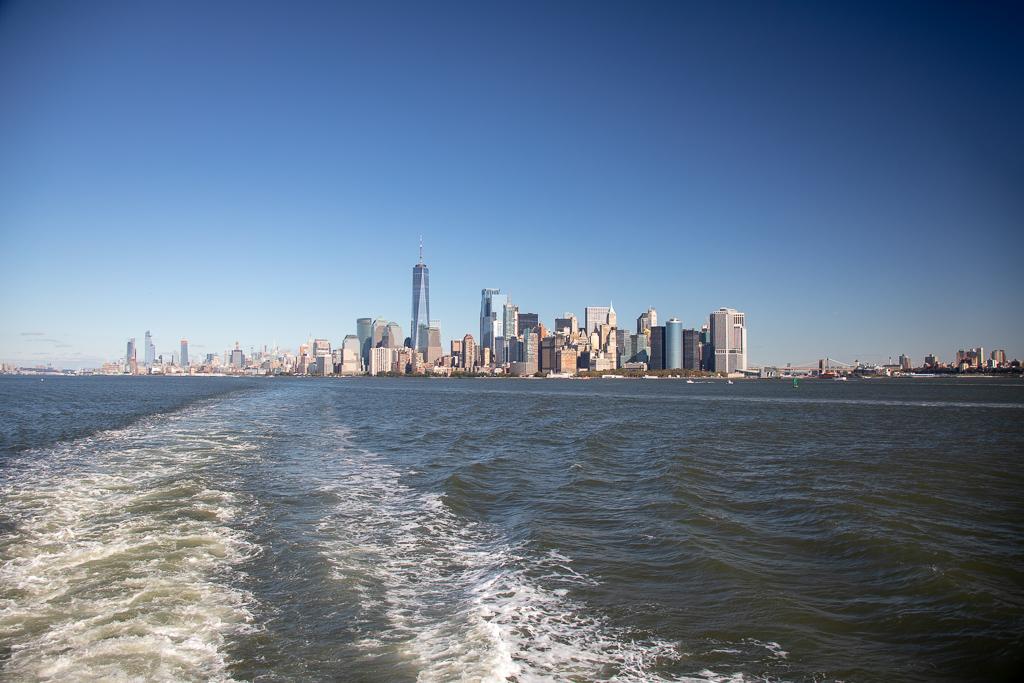 Sul da Ilha de Manhattan vista do passeio de barco