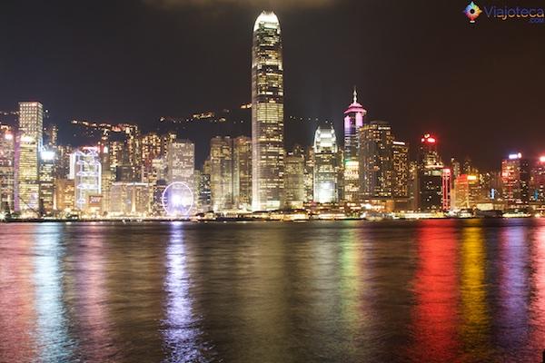 Hong Kong durante a noite