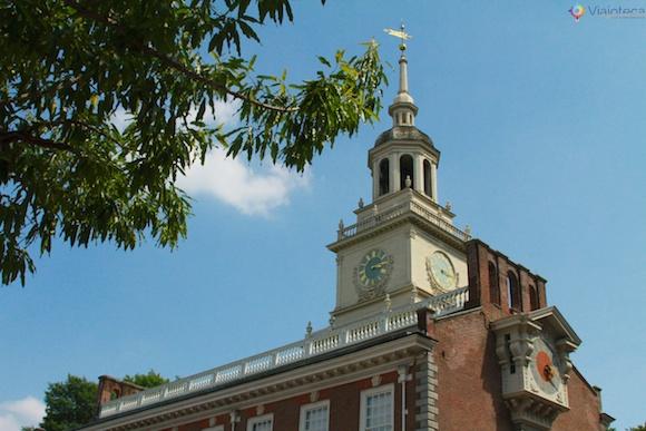 Torre do Independence Hall em Philadelphia