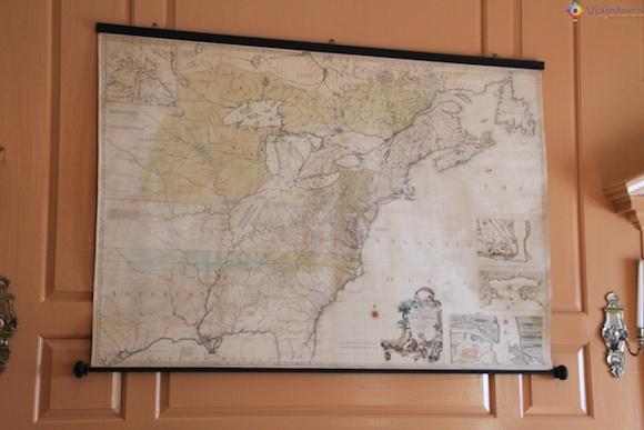 Mapa antigo no Independence Hall