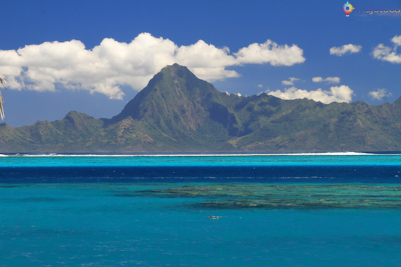 Ilha de Moorea vista do Tahiti