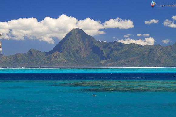 Ilha de Moorea vista do Tahiti