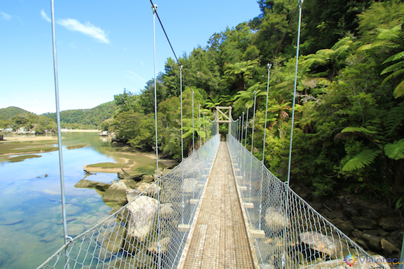 Ponte Pensil no Abel Tasman National Park na Nova Zelândia
