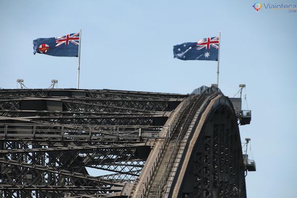 Ponte mais famosa da Austrália a Sydney Harbour Bridge