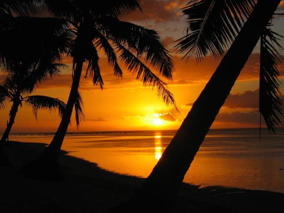 Por do Sol em Samoa