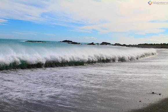 Praia na Wairarapa Coast nos arredores de Wellington