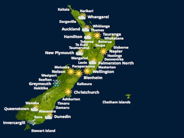 Previsão do tempo NZ