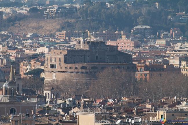 Roma vista do alto castel Santangelo