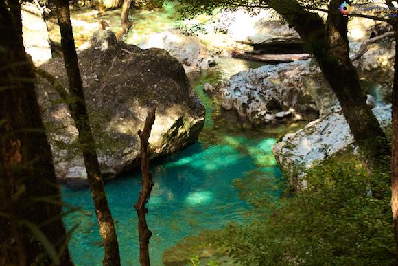 Routeburn River na Nova Zelândia