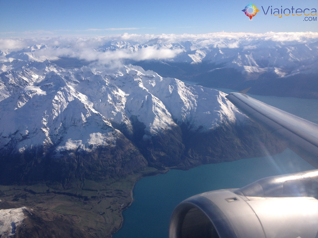Sobrevoando a Nova Zelândia